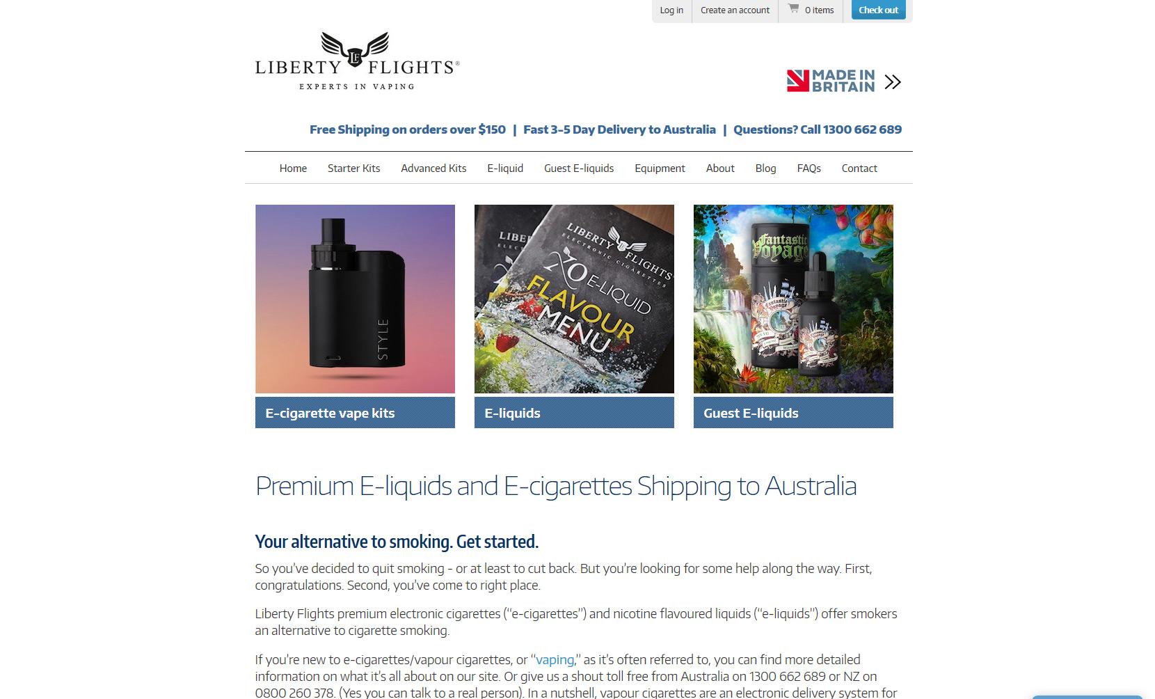VaporFi Australia - Best Places to Buy E-Liquid: Liberty Flights
