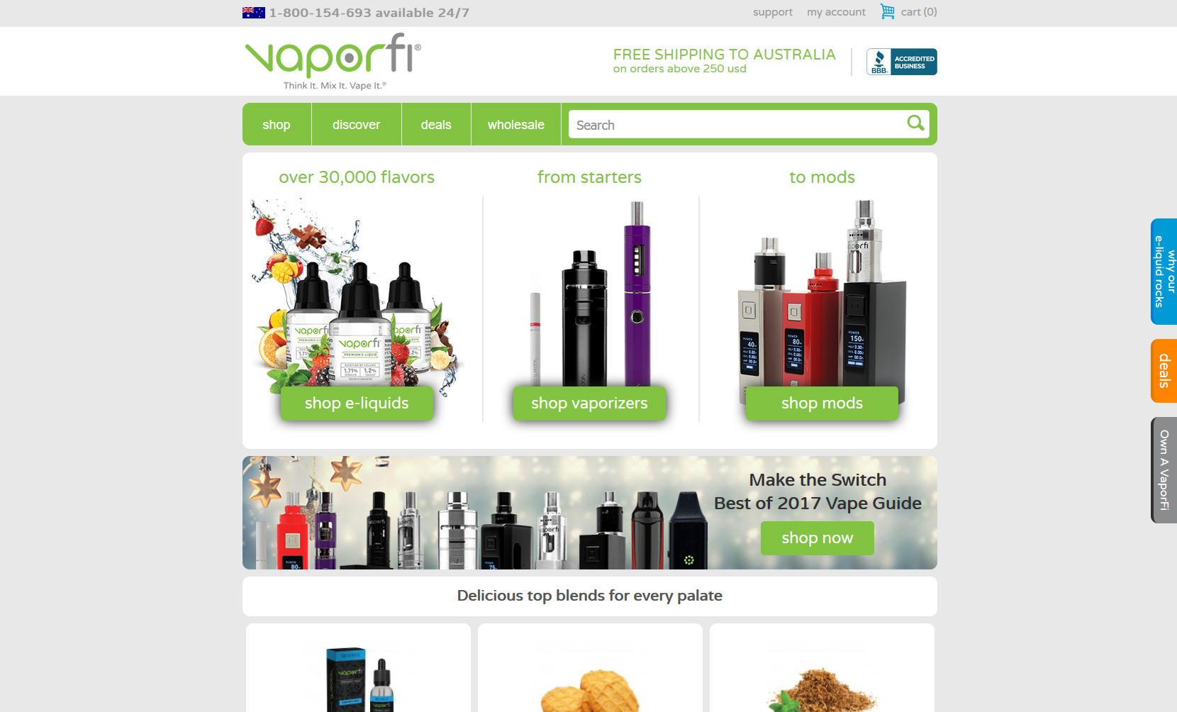 VaporFi Australia - Best Places to Buy E-Liquid: VaporFi